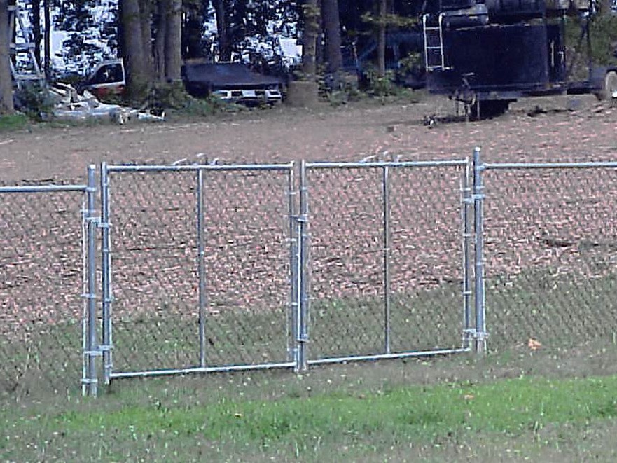chain link fence double gate. Gate Chainlink Double Chain Link Fence