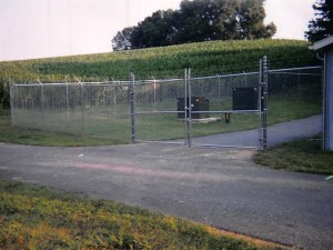 Commercial Chainlink Double Gate