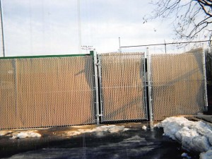Commercial Chainlink with Privacy Slats