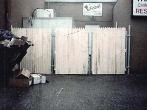 Commercial Steel Frame Gate with Wood