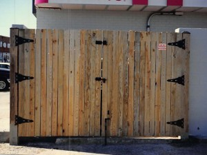 Commercial Wood Dumpster Enclosure