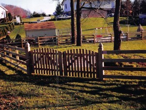 Gate Double Spaced Picket