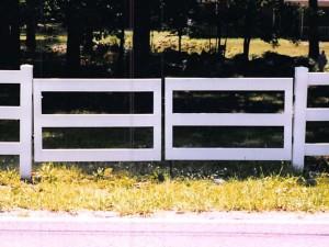 Gate PVC 3 Rail