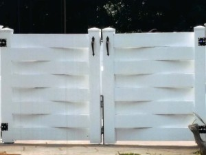 Gate Double PVC Basketweave