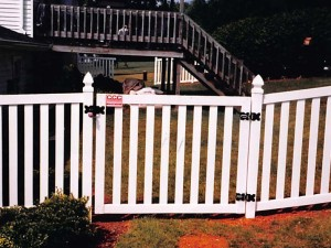 Gate PVC Spaced Slats