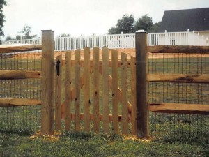 Gate Spaced Board on Split Rail
