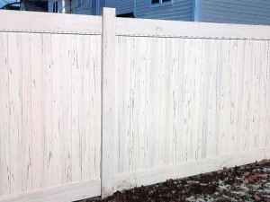 PVC Privacy with Wood Grain